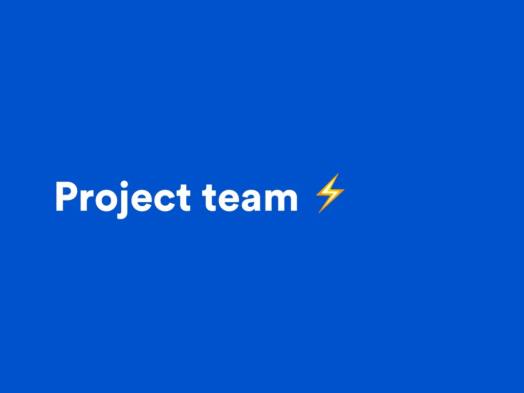 Project team ⚡