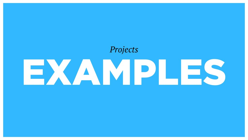 EXAMPLES Projects