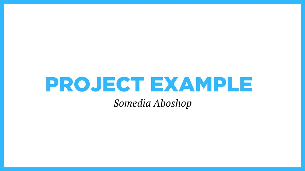 PROJECT EXAMPLE Somedia Aboshop
