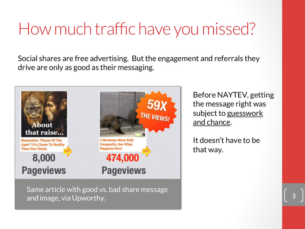 How much traffic have you missed? 3  Social ...