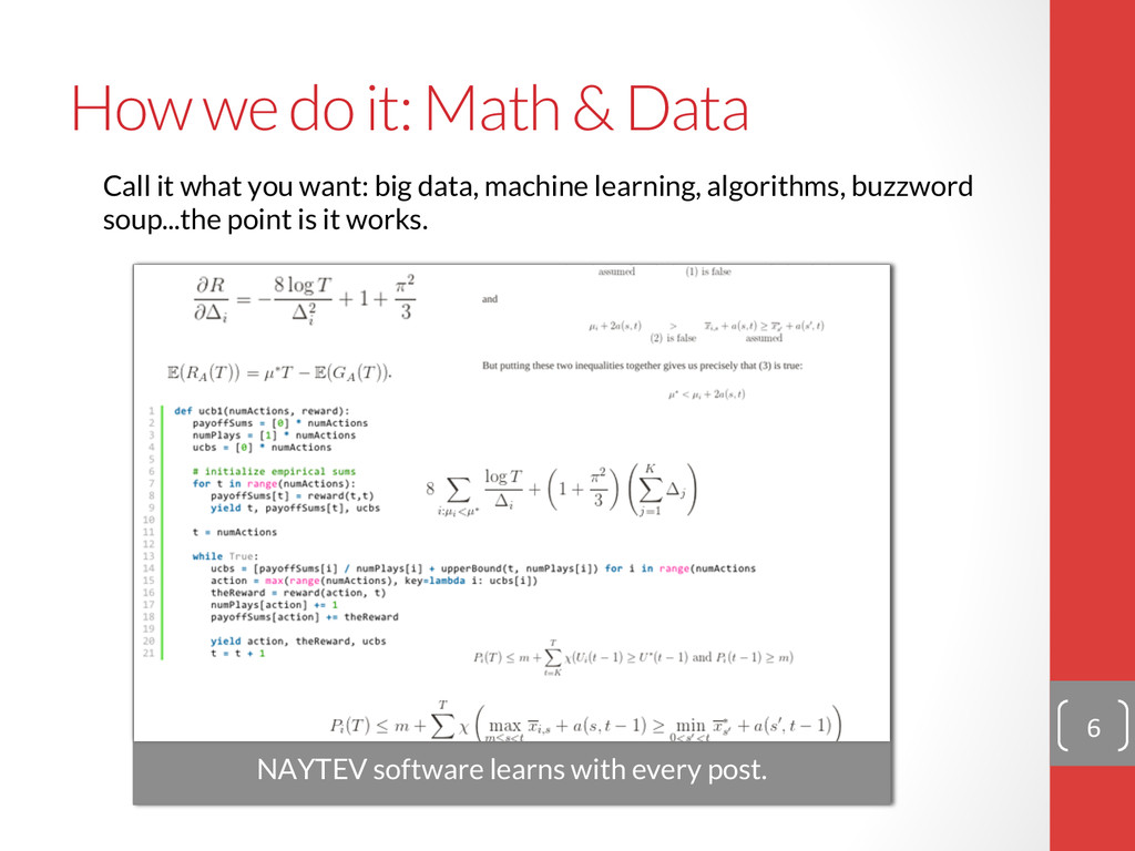 How we do it: Math & Data 6  Call it what y...