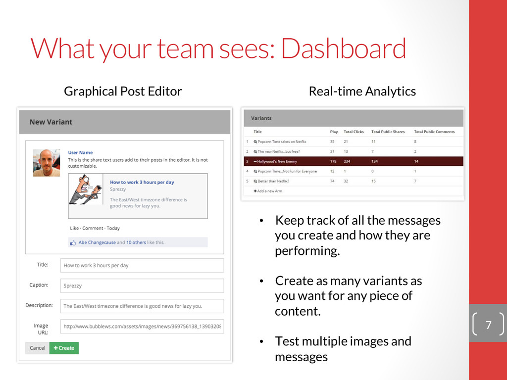 What your team sees: Dashboard 7  Graphical...