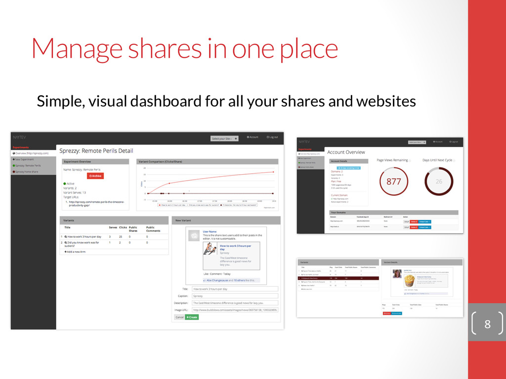 Manage shares in one place Simple, visual dash...