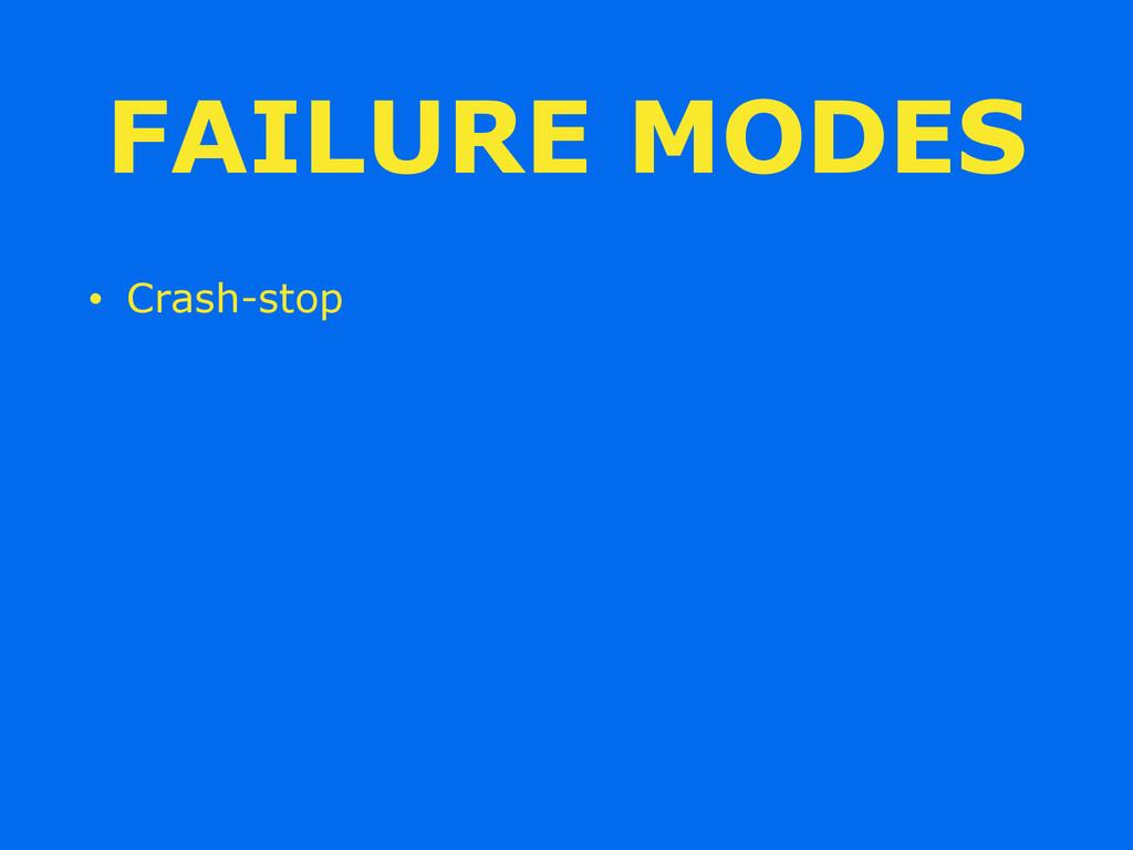 FAILURE MODES • Crash-stop