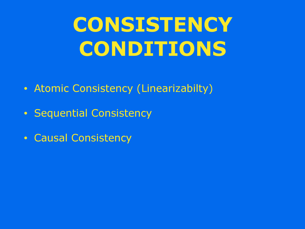 CONSISTENCY CONDITIONS • Atomic Consistency (Li...