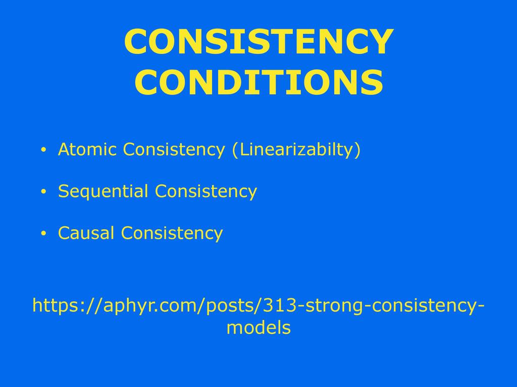 CONSISTENCY CONDITIONS • Atomic Consistency (Li...