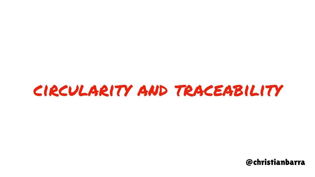 circularity and traceability @christianbarra