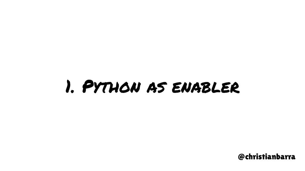1. Python as enabler @christianbarra