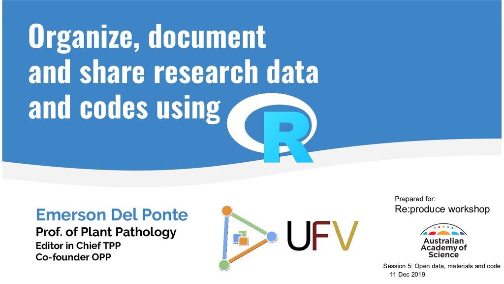 Organize, document and share research data and ...