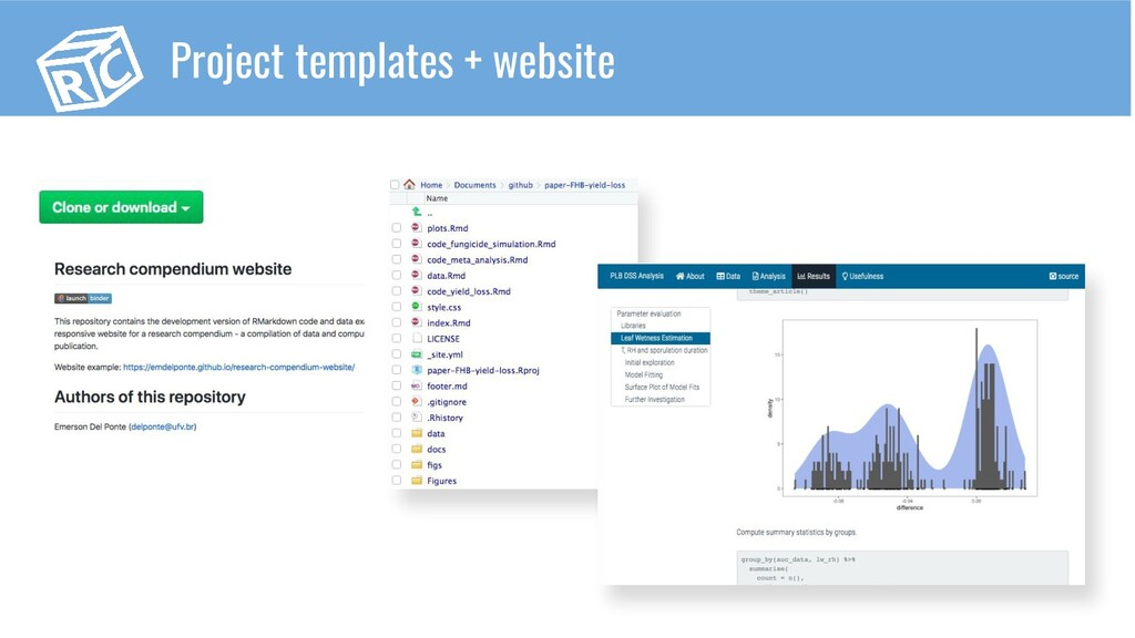 Project templates + website