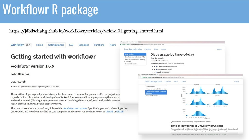 Workflowr R package https:/ /jdblischak.github.i...