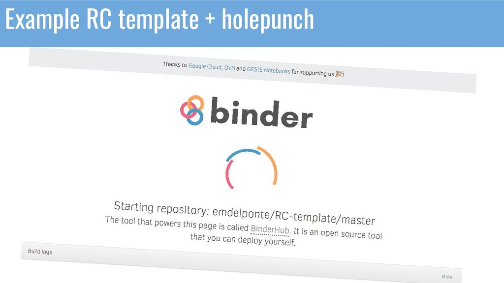 Example RC template + holepunch