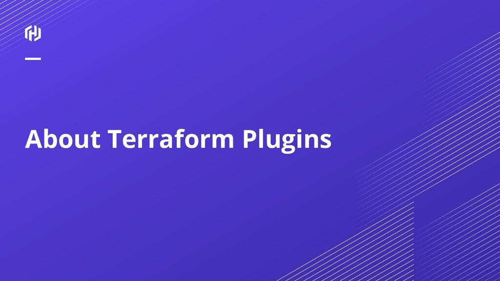 About Terraform Plugins
