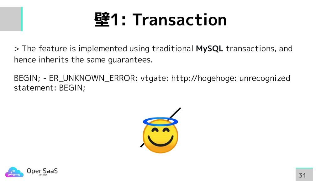 壁1: Transaction > The feature is implemented us...