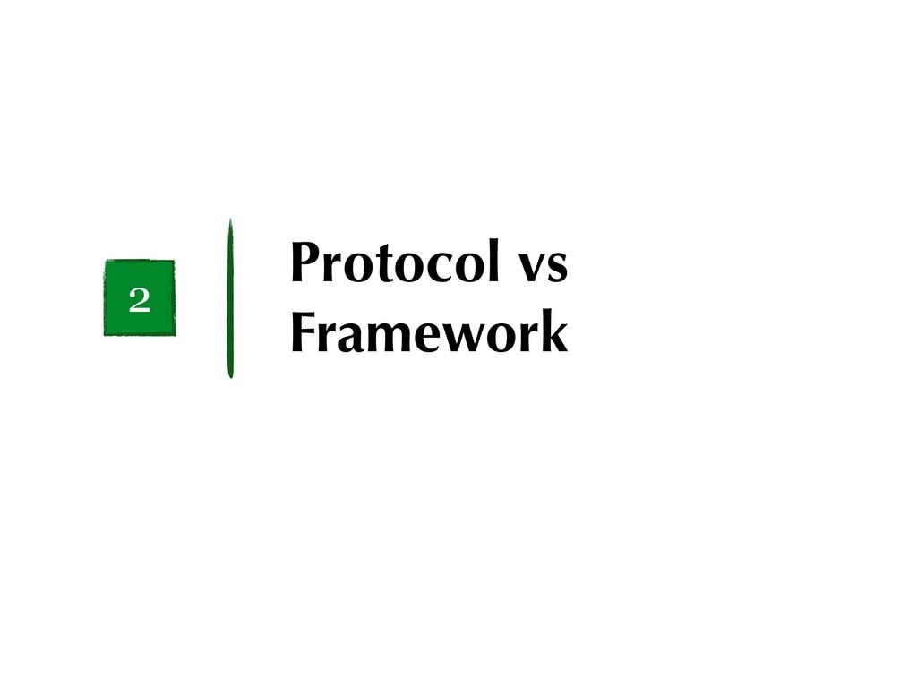 Protocol vs Framework 2