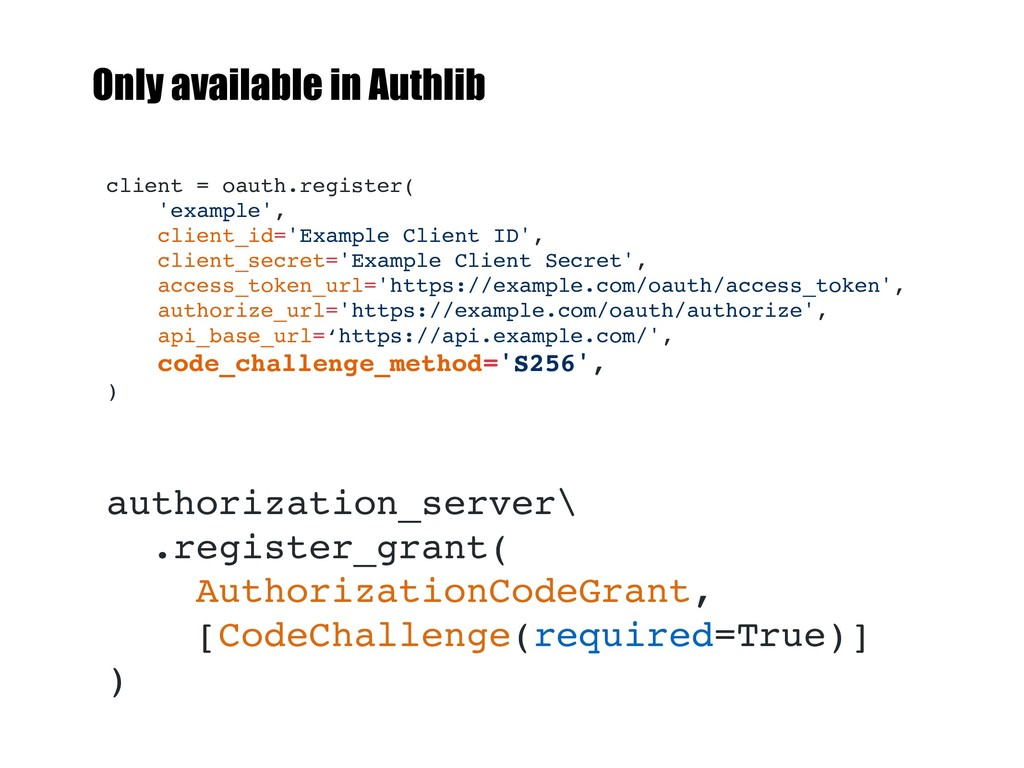 client = oauth.register( 'example', client_id='...