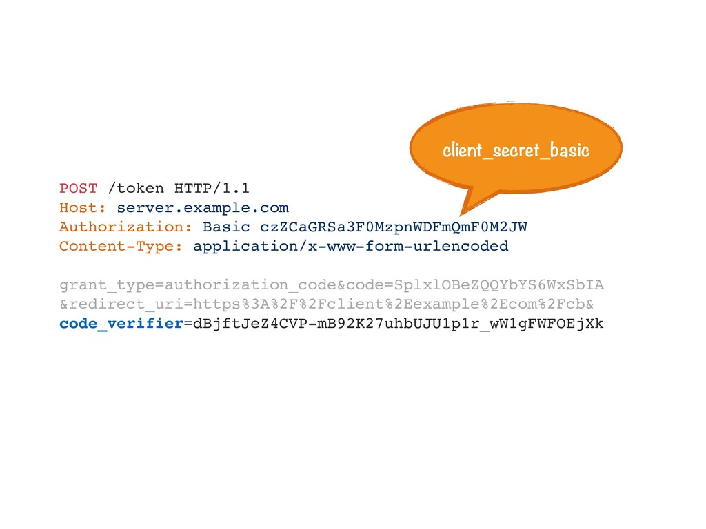 POST /token HTTP/1.1 Host: server.example.com A...