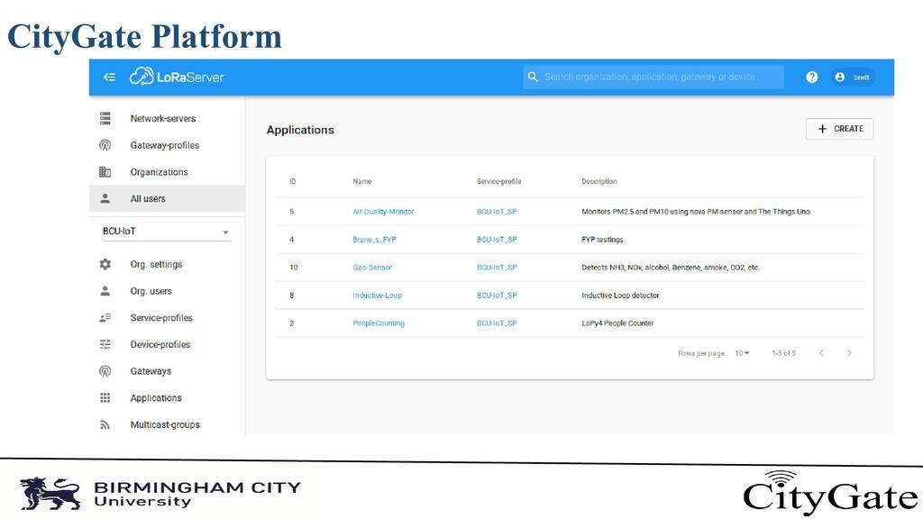 CityGate Platform