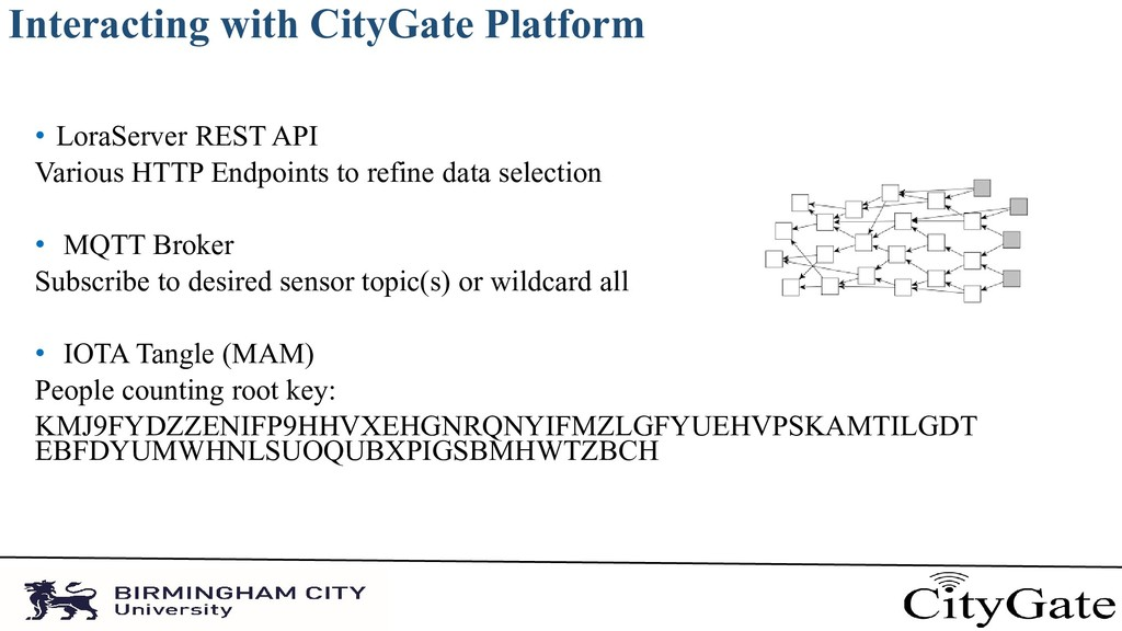 Interacting with CityGate Platform • LoraServer...