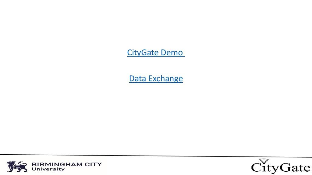 CityGate Demo Data Exchange
