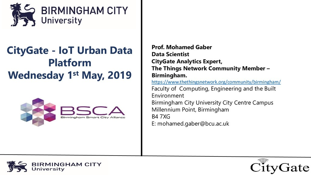 CityGate - IoT Urban Data Platform Wednesday 1s...