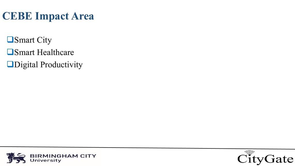 CEBE Impact Area Smart City Smart Healthcare ...