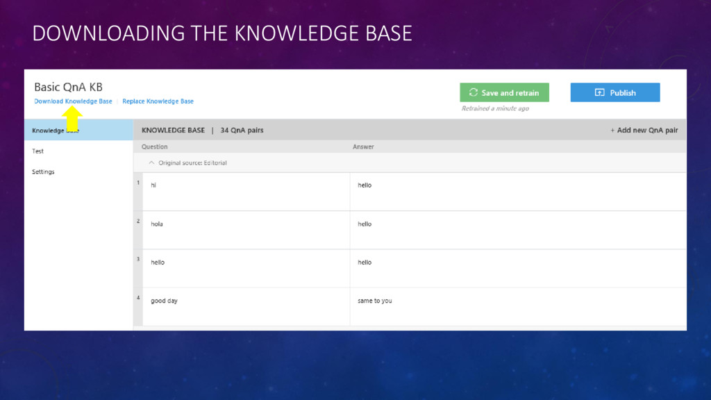 DOWNLOADING THE KNOWLEDGE BASE