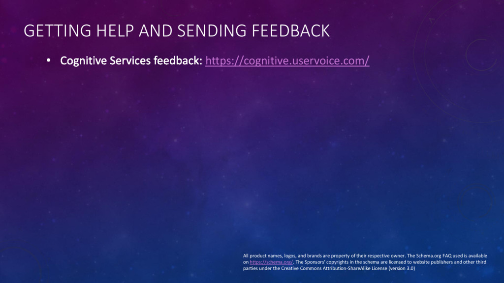 GETTING HELP AND SENDING FEEDBACK https://cogni...