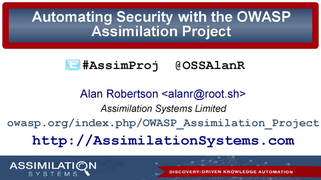 Automating Security with the OWASP Automating S...