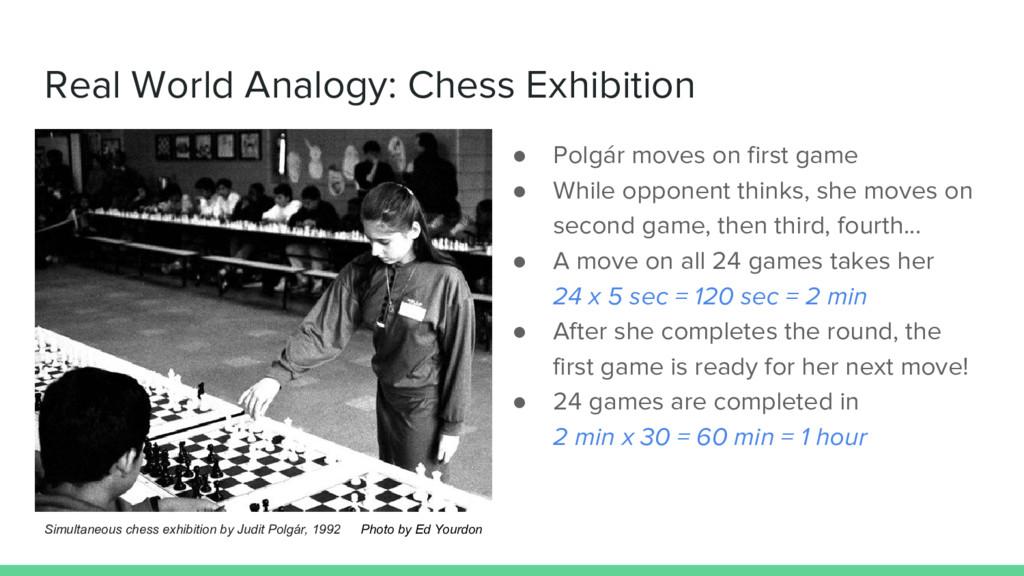 Real World Analogy: Chess Exhibition ● Polgár m...