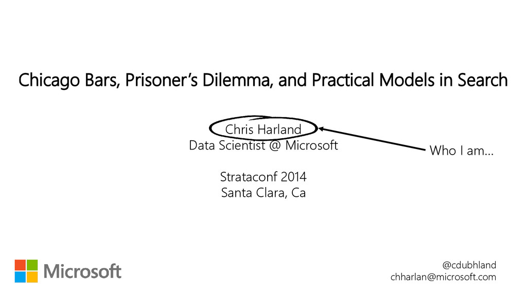 Chicago Bars, Prisoner's Dilemma, and Practical...