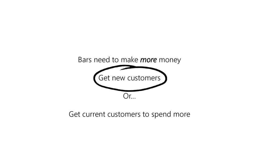 Bars need to make more money Get new customers ...