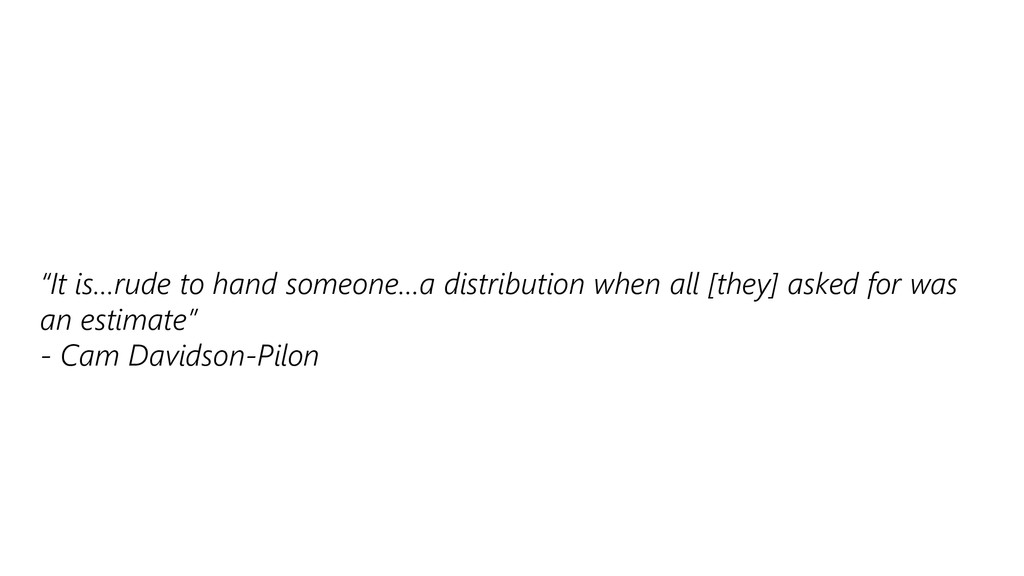 """""""It is…rude to hand someone…a distribution when..."""