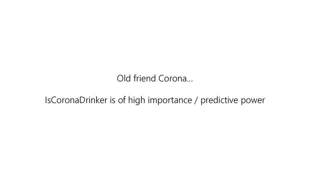 Old friend Corona… IsCoronaDrinker is of high i...