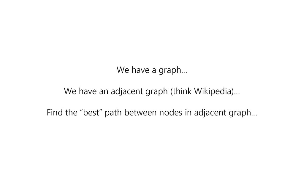 We have a graph… We have an adjacent graph (thi...