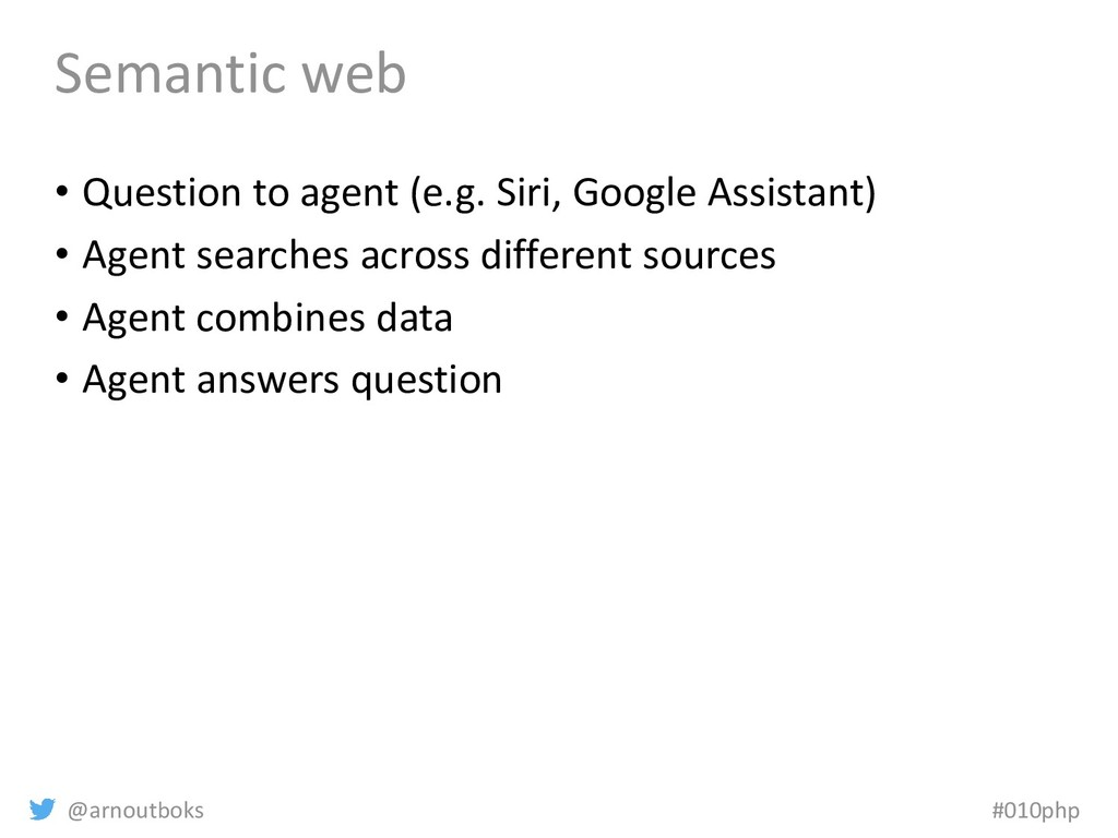 @arnoutboks #010php Semantic web • Question to ...