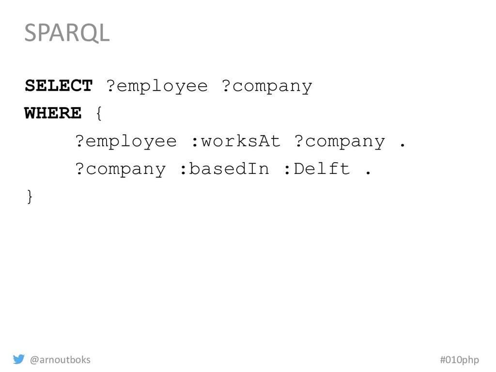 @arnoutboks #010php SPARQL SELECT ?employee ?co...