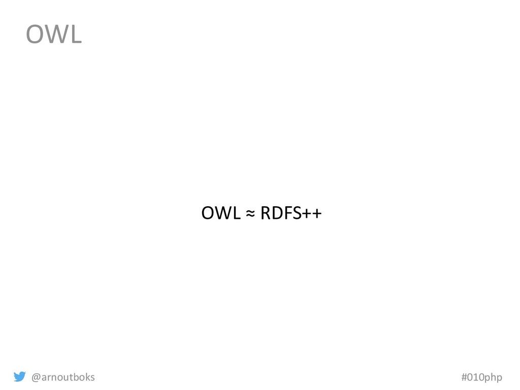 @arnoutboks #010php OWL OWL ≈ RDFS++