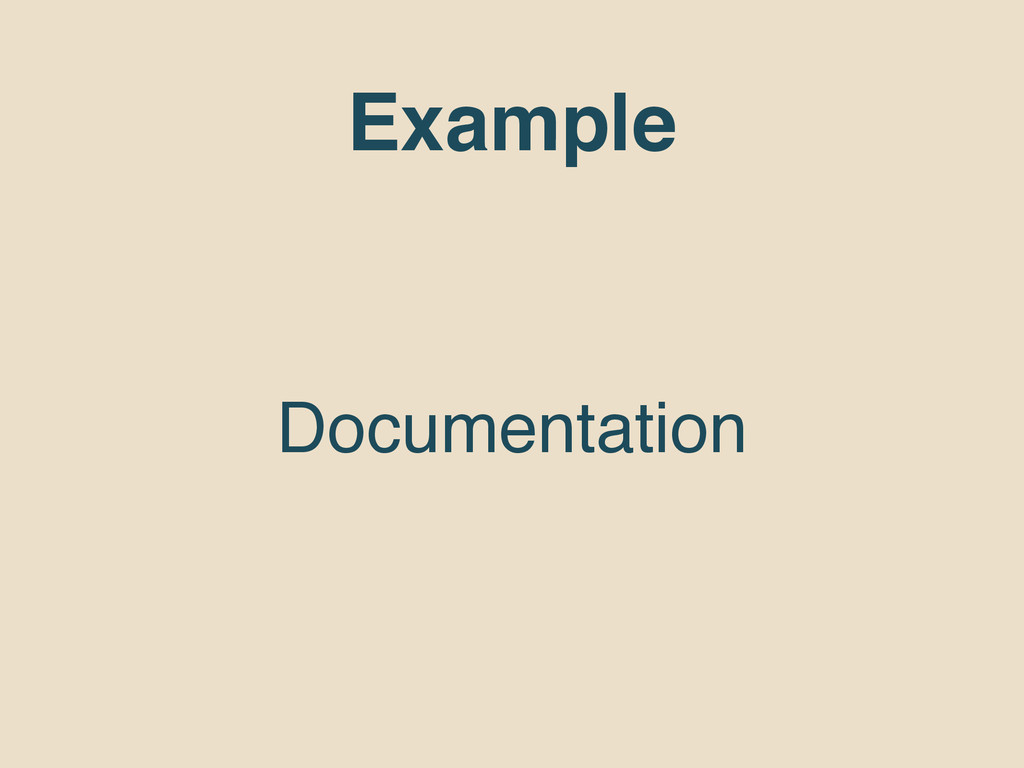 Example Documentation
