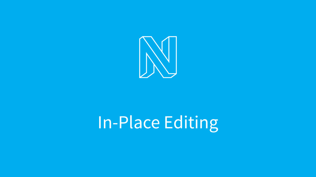 In-Place Editing