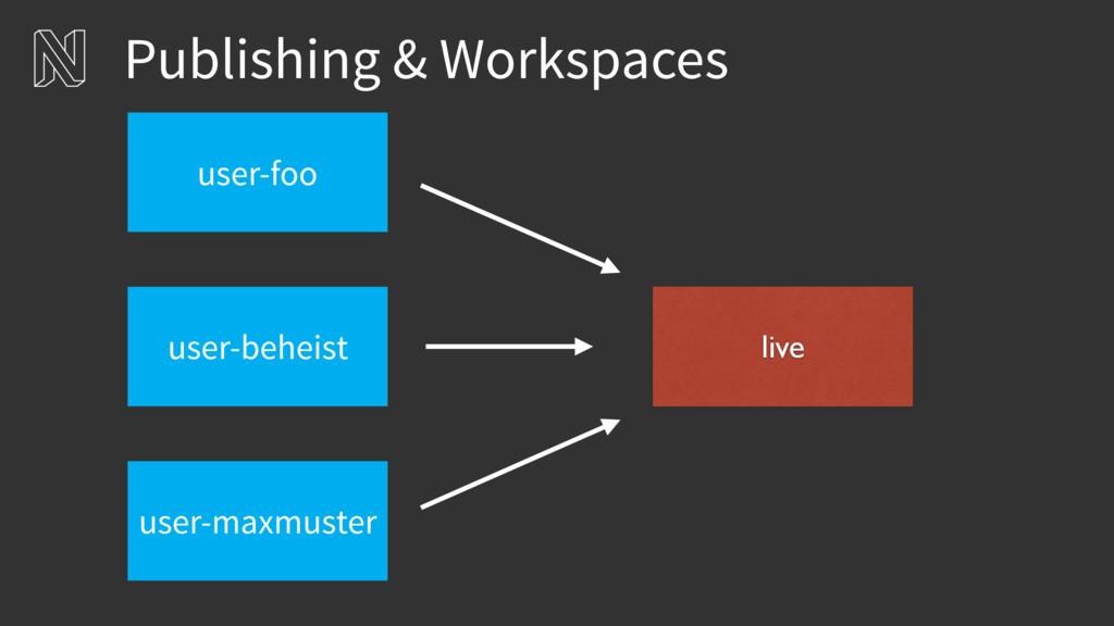 Publishing & Workspaces live user-beheist user-...