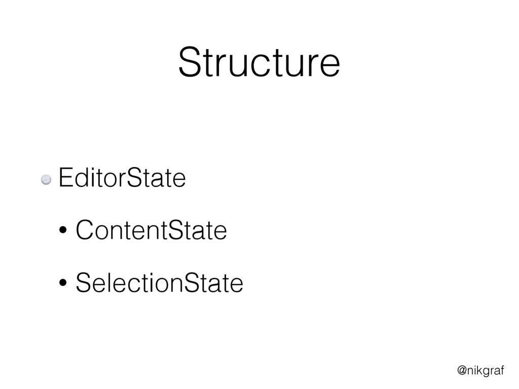 @nikgraf Structure EditorState • ContentState •...