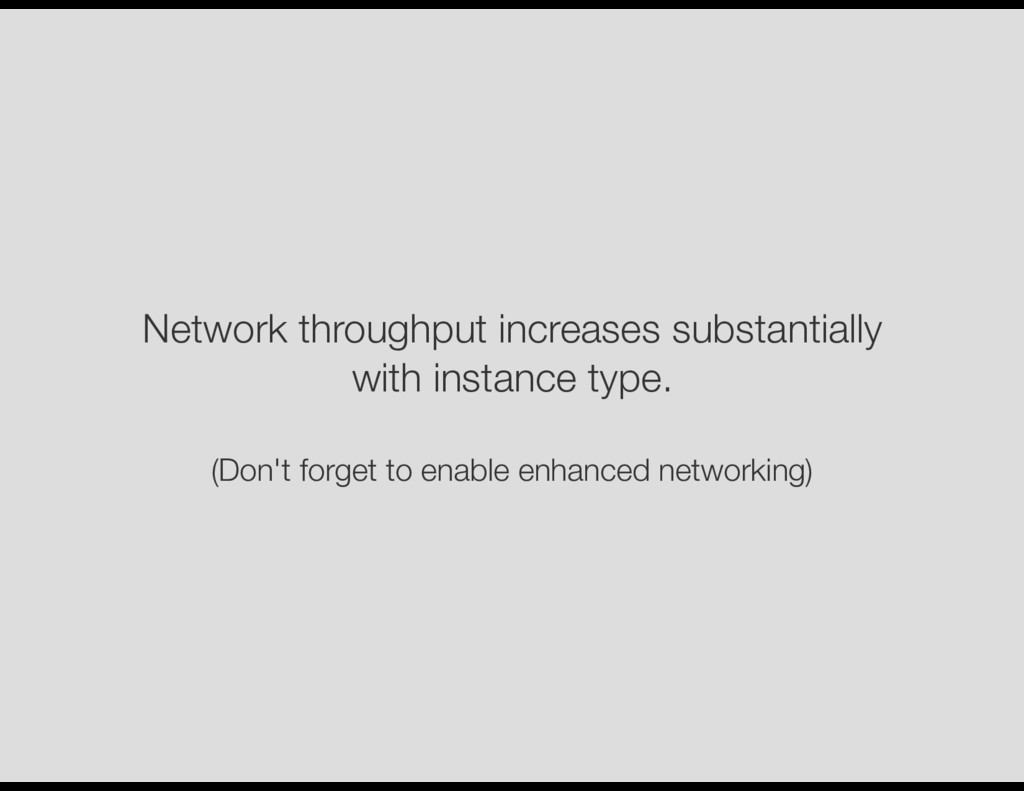 Network throughput increases substantially with...
