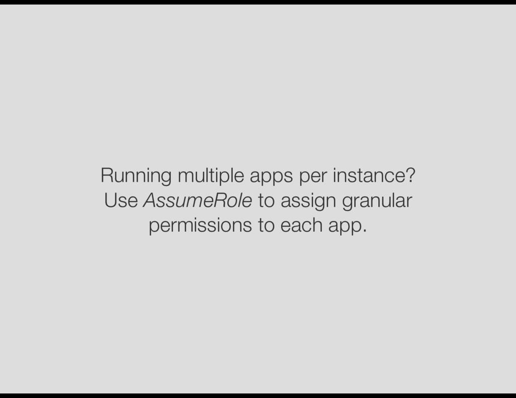 Running multiple apps per instance? Use AssumeR...