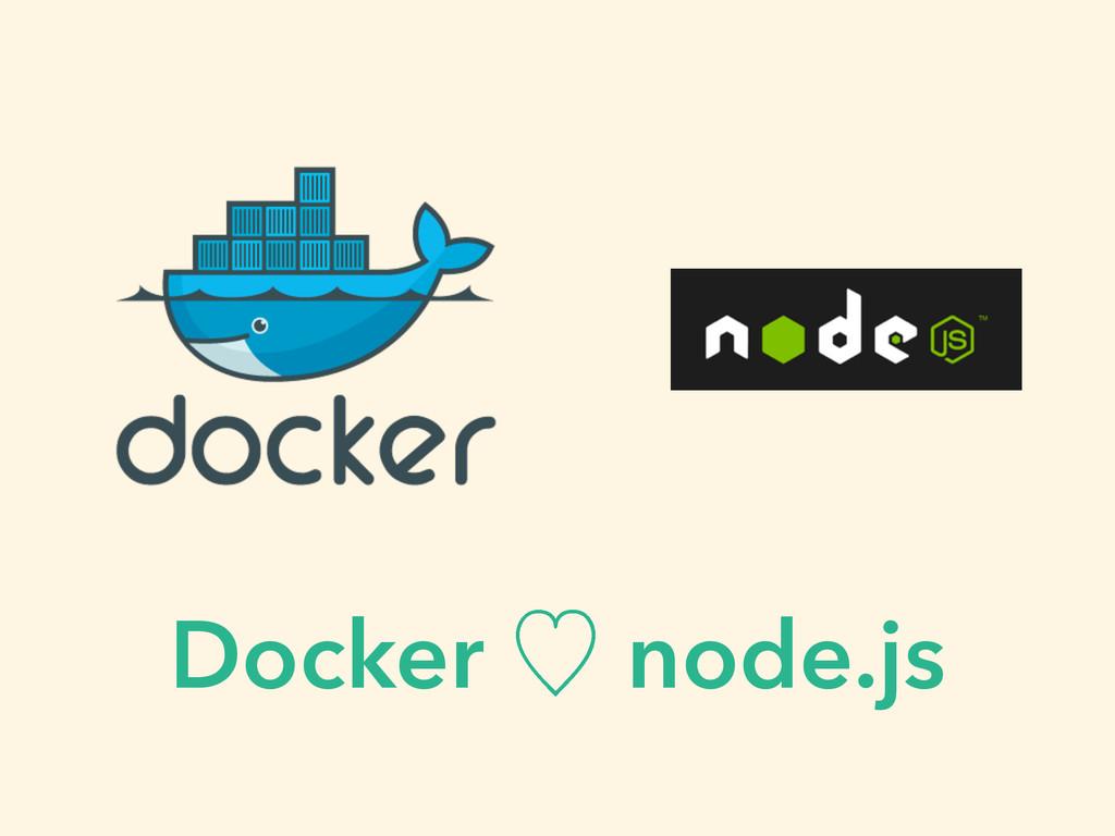 Docker ὑ node.js