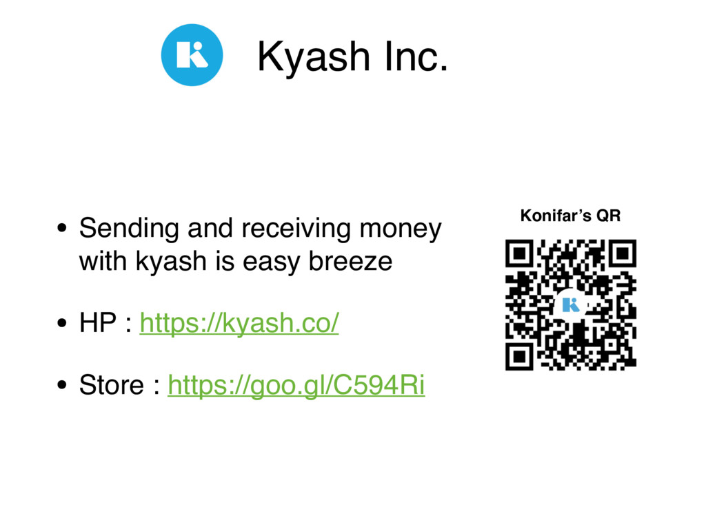 Kyash Inc. • Sending and receiving money 