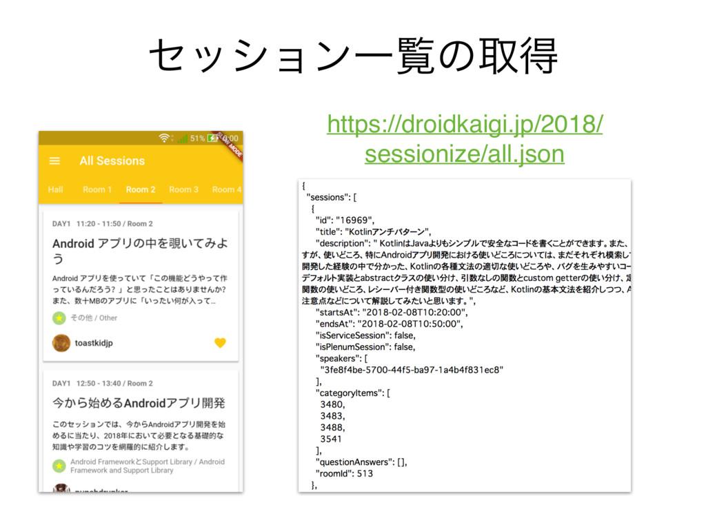 ηογϣϯҰཡͷऔಘ https://droidkaigi.jp/2018/ sessioni...