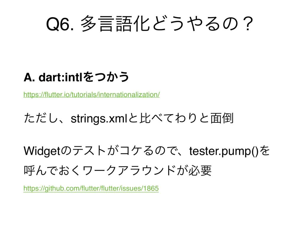 Q6. ଟݴޠԽͲ͏Δͷʁ A. dart:intlΛ͔ͭ͏ https://flutter...