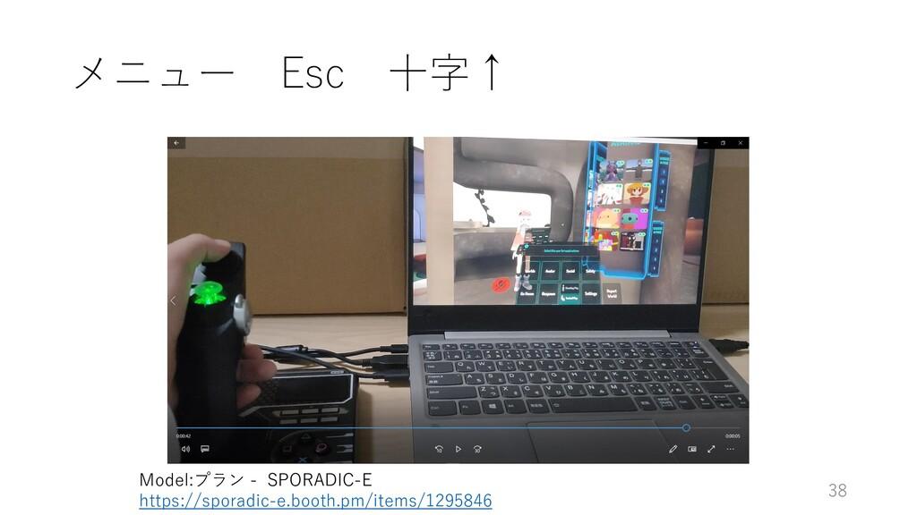 メニュー Esc 十字↑ 38 Model:プラン - SPORADIC-E https://...