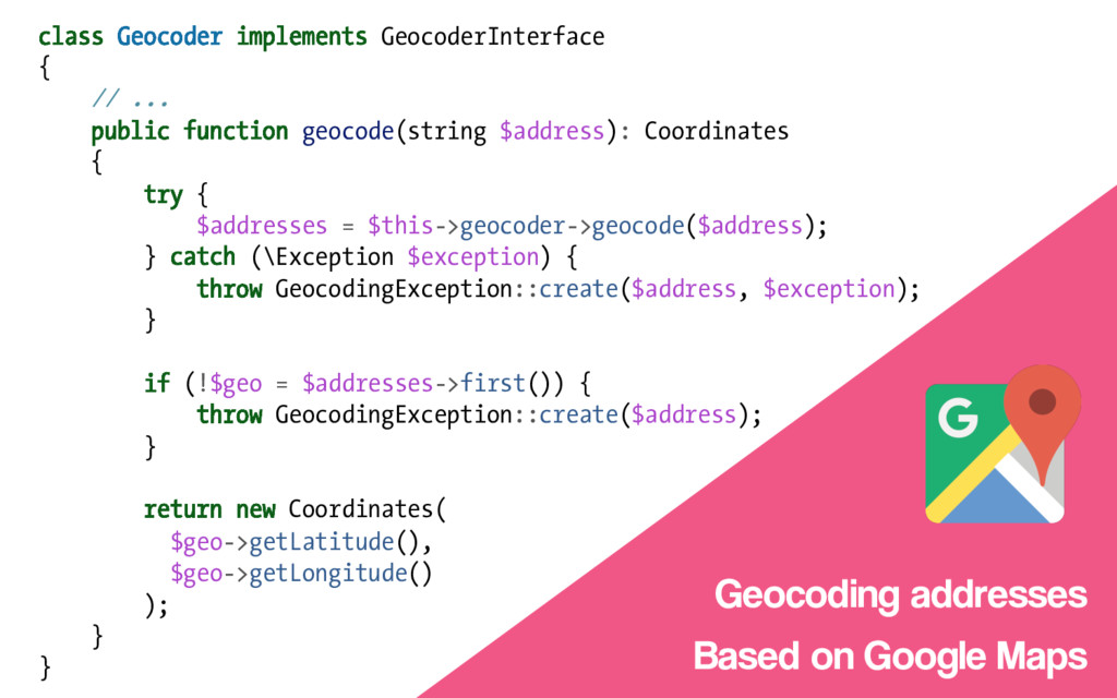class Geocoder implements GeocoderInterface { /...
